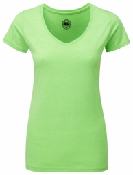 Russell Ladies HD Tee met V-hals