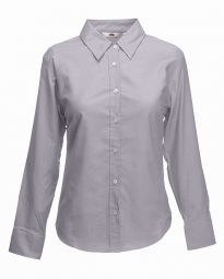 FOTL Lady-Fit Oxford Shirt met LM OC