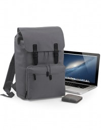 BG613 Vintage Laptop Backpack Grafiet/Zwart