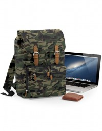 BG613 Vintage Laptop Backpack - Camo/Bruin