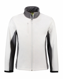 LEM4700 Softshell Jacket Wit/Parelgrijs