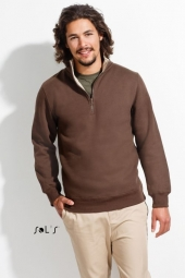 Sol's Scott sweater met 1/4 rits