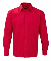 Russell Poplin Shirt Pure Cotton Easy Care met LM