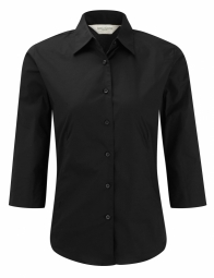 Russell Poplin Strecth Shirt Easy Care met 3/4 mouw