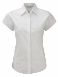 Russell Poplin Stretch Shirt Easy Care met kapmouwen