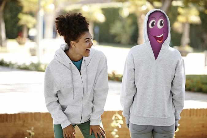 Unique Hoodie van Fruit of the Loom